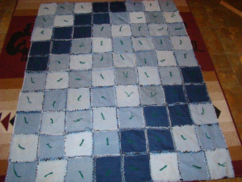 Denim Rag Quilt Mystic Handworks
