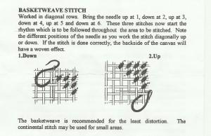 continental stitch diagram