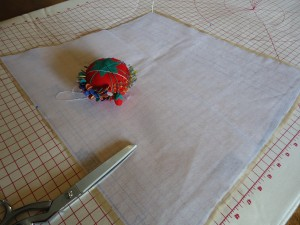 Preserving the pattern with lightweight interfacing