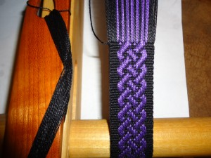 Baltic Style Pick up/Basket weave.  Pattern threads doubled
