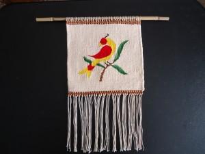 Distelfink woven tapestry