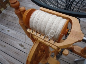 2 Ply alpaca yarn filled bobbin