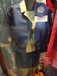 Nicely sewn and expertly lined outfit.  Well earned blue ribbon