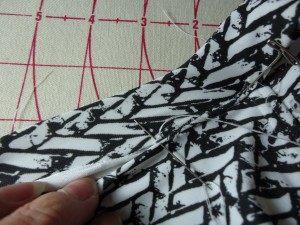 Hand stitch fashion fabric