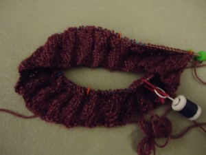 One repeat of cowl pattern