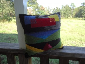 Finished pillow side A