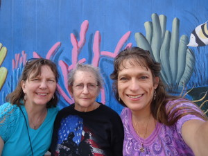 Loretta, Mom and Me at Fisherman's Village in Punta Gorda